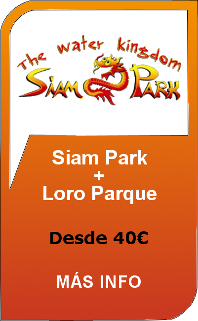 Siam Park + Loro Parque - Twin Ticket