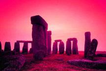 Stonehenge world Heritage site at sunset