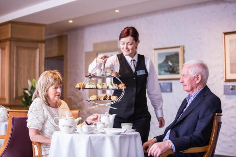 Afternoon Tea At The Ballygally Castle Hotel