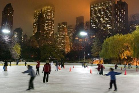 Empire State Building Observatory Ice Skating At Wollman Rink In Central Park