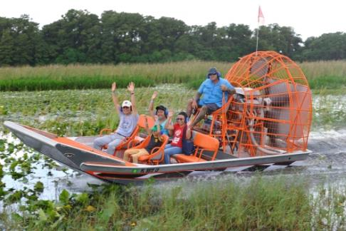 Image For Boggy Creek Airboat Rides - Sunset Expedition 1 Hour tour