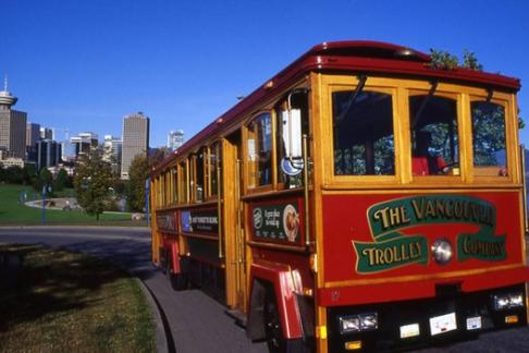 Image For Vancouver Hop-On Hop-Off Bus + Trolley - 24 Hour Pass