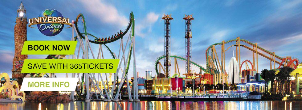 Universal Studios Book and Save with 365 Tickets