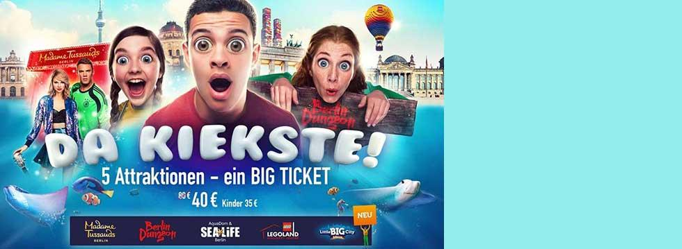 Berlin Kombi-Tickets für 2, 3, 4 oder 5 Attraktionen