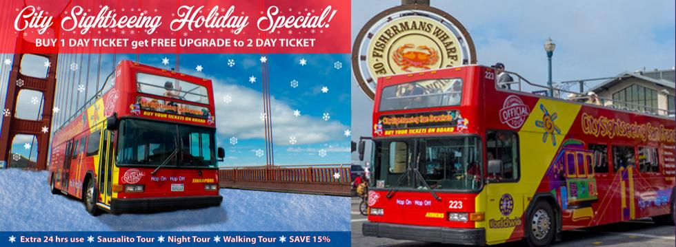 City Sightseeing Holiday Hop-on Hop-off Special Offer